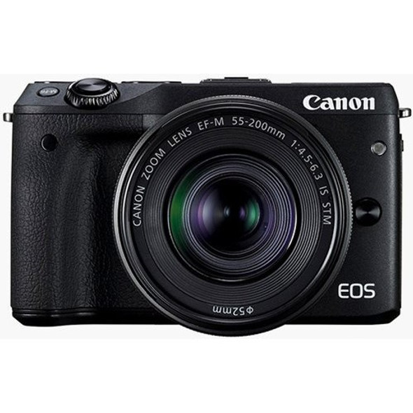 M3TKISB EOS M3 BLACK WITH EFM18-55ISSTM & 55-200ISSTM (W/OUT EF ADAP)24.2MP APS-C C