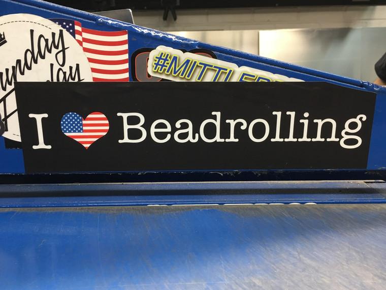 I Love Beadrolling Sticker