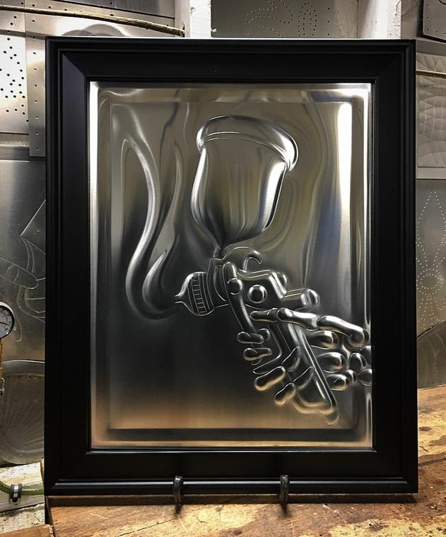 Painter's Gun w/Skeleton Hand