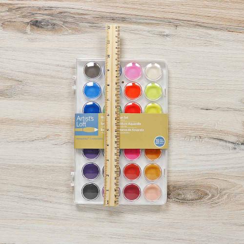 Watercolor Pan Set - 28 Colors - Dimensions