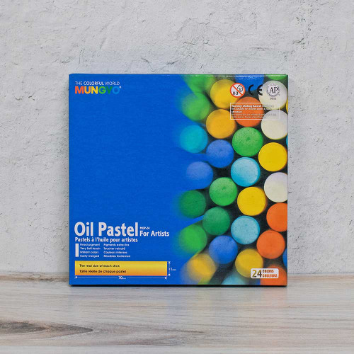 Oil Pastels Cardboard Box Set - 24 Colors - Package
