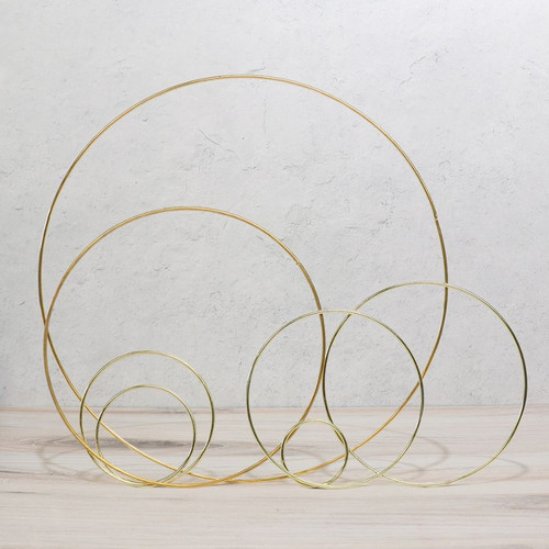 Metal Hoops - Gold, Silver, and Iron - Multiple Sizes