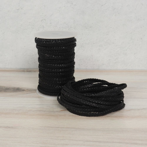 Flat Braided Leather Cord - Main