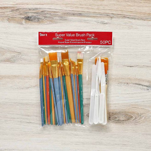 Assorted Brush Set - 50 Pack
