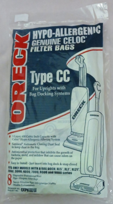 Genuine Oreck CCPK8DW Hypo-Allergenic Filter Bags (8)