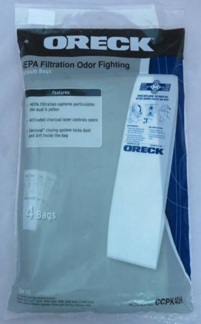 Genuine Oreck CCPK4OH HEPA Filtration Odour Fighting Bags (4)