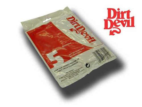 Dirt Devil Handy Vacuum Cleaner Paper Bag Pack (5)  (Genuine)