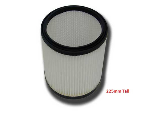 Universal Cartridge Filter 225mm tall Wet & Dry for Canister Vacuum Cleaners
