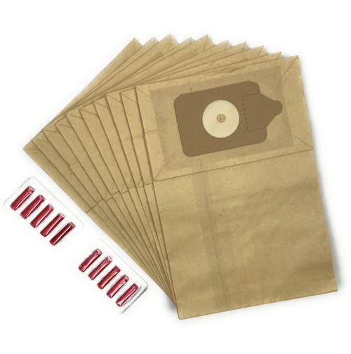 Numatic Vacuum Cleaner Bags and Rose Scented Fresheners (10)