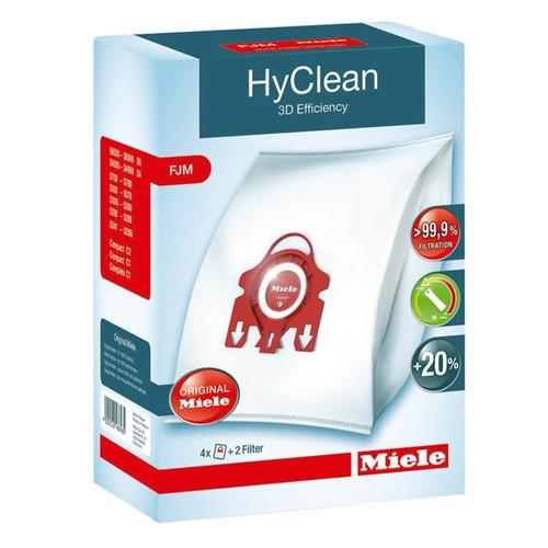 Miele FJM Hyclean 3D Efficiency Vacuum Dust Bag & Filter Pack (Genuine)