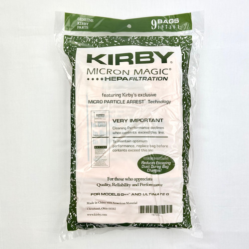 Genuine Kirby Micron Magic Filtration 197301 Bag Pack (9)
