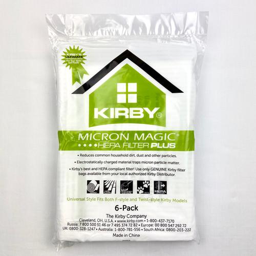 Genuine Kirby 204814 Universal Fit Micron Magic Plus  Bag Pack (6)
