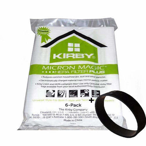 Genuine Kirby Universal Micron Magic Plus Vacuum Cleaner Bags & Belt Kit