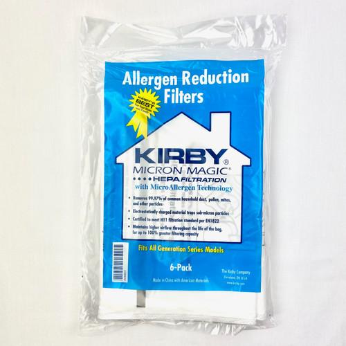 Genuine Kirby Type G Micron Magic HEPA Filtration 204803 Bag Pack (6)