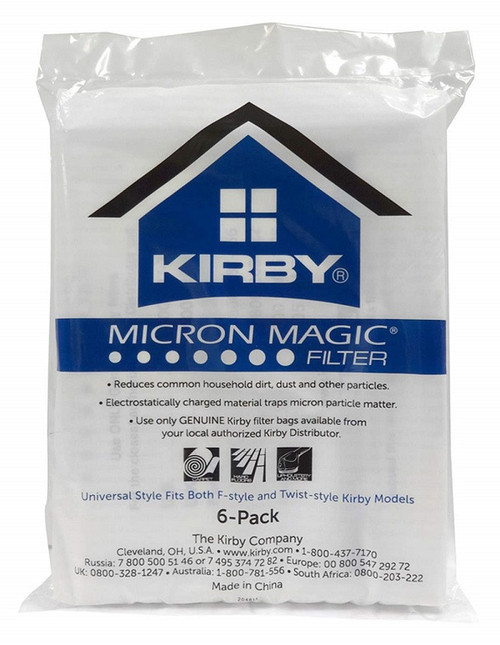 Genuine Kirby Micron Magic Filtration Universal Style Bag Pack (6)