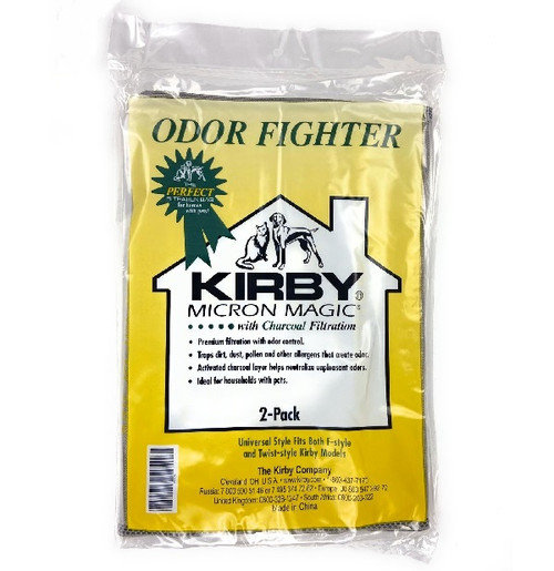Genuine Kirby Micron Magic Odor Fighter Universal Style Bag Pack (2)
