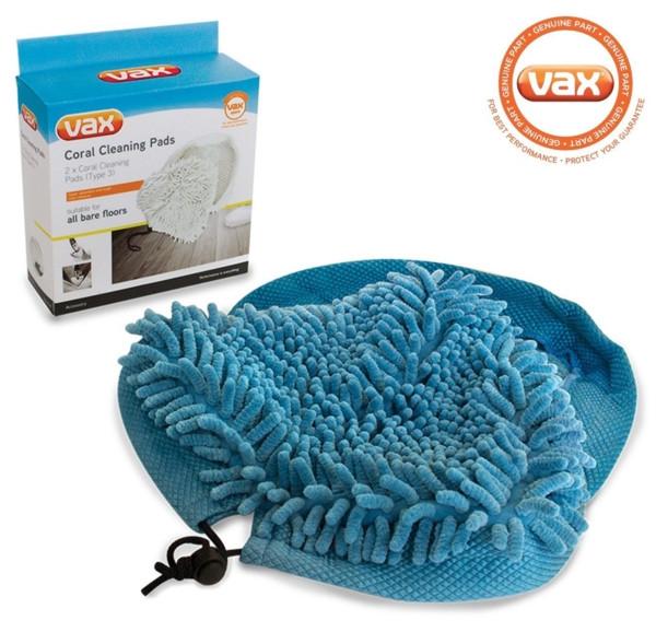 Vax Type 3 Steam mop Coral pads genuine Pack (2)