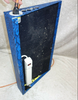 """Guitar effects pedalboard blue snakeskin 26"""" x 15"""" with extension cord"""
