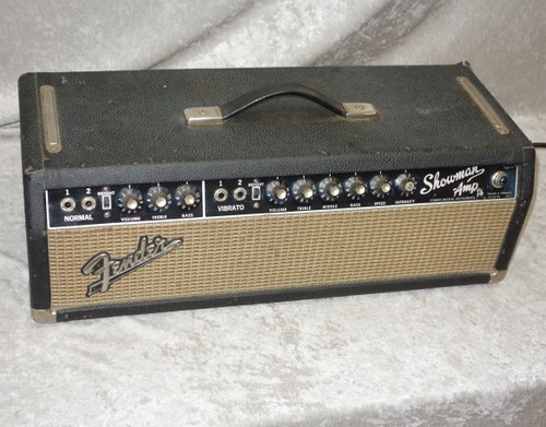1965 USA Fender Showman all tube amp head (just serviced)