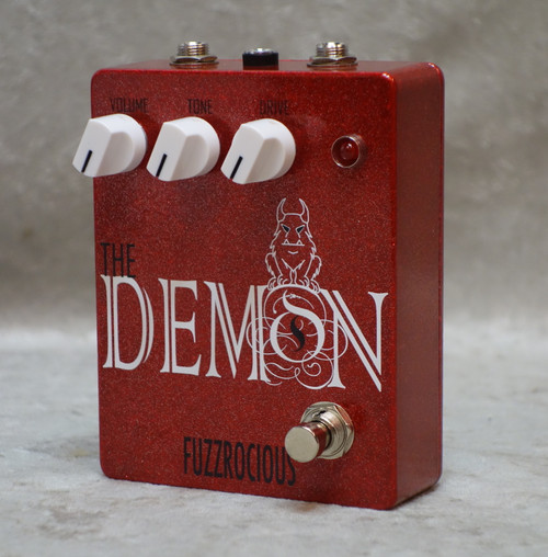 In Stock! Fuzzrocious The Demon overdrive pedal in red