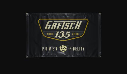 Gretsch 135th Anniversary logo 3'x5' vinyl banner