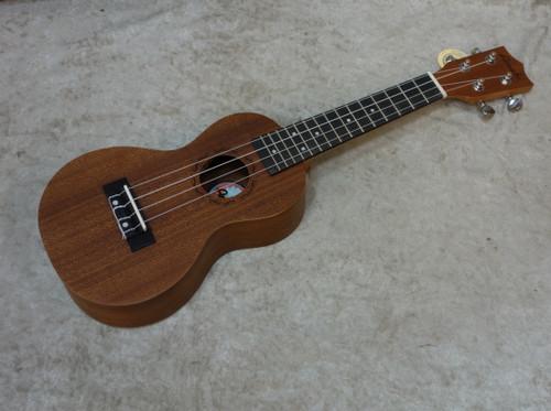 Amahi UK150W Select Mahogany Peanut shape Soprano Ukulele with Bag - UKE
