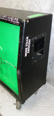 Line 6 4x12 guitar cabinet with DIY neon green grill