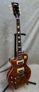 Vintage Brand Paradise LV100AFD Les Paul Left-Handed Flamed Amber Slash G&R 0208