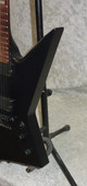 ESP LTD EX-307 electric guitar in black satin finish with case