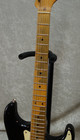 2008 Fender MIM Road Worn Stratocaster electric guitar in black finish with bag
