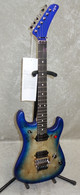 In Stock! 2021 EVH 5150 Series Deluxe Poplar Burl guitar in aqua burst (0361)