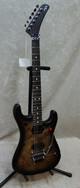 In Stock! 2021 EVH 5150 Series Deluxe Poplar Burl guitar in black burst (3140)