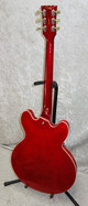In Stock! Vintage VSA500 ReIssued Semi Acoustic Guitar - Left Hand Cherry Red