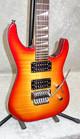 Jackson Dinky 24 fret electric guitar in cherry sunburst with hardshell case