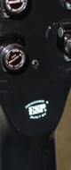 MIJ ESP Eclipse E-II full thickness electric guitar in black burst with case