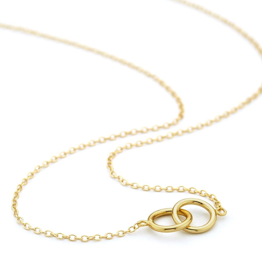 Interlocking circles necklace gold vermeil