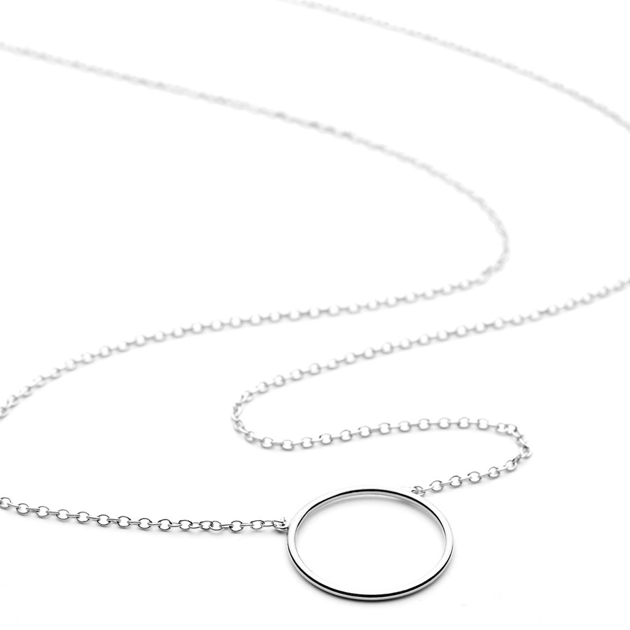 Circle necklace in sterling silver