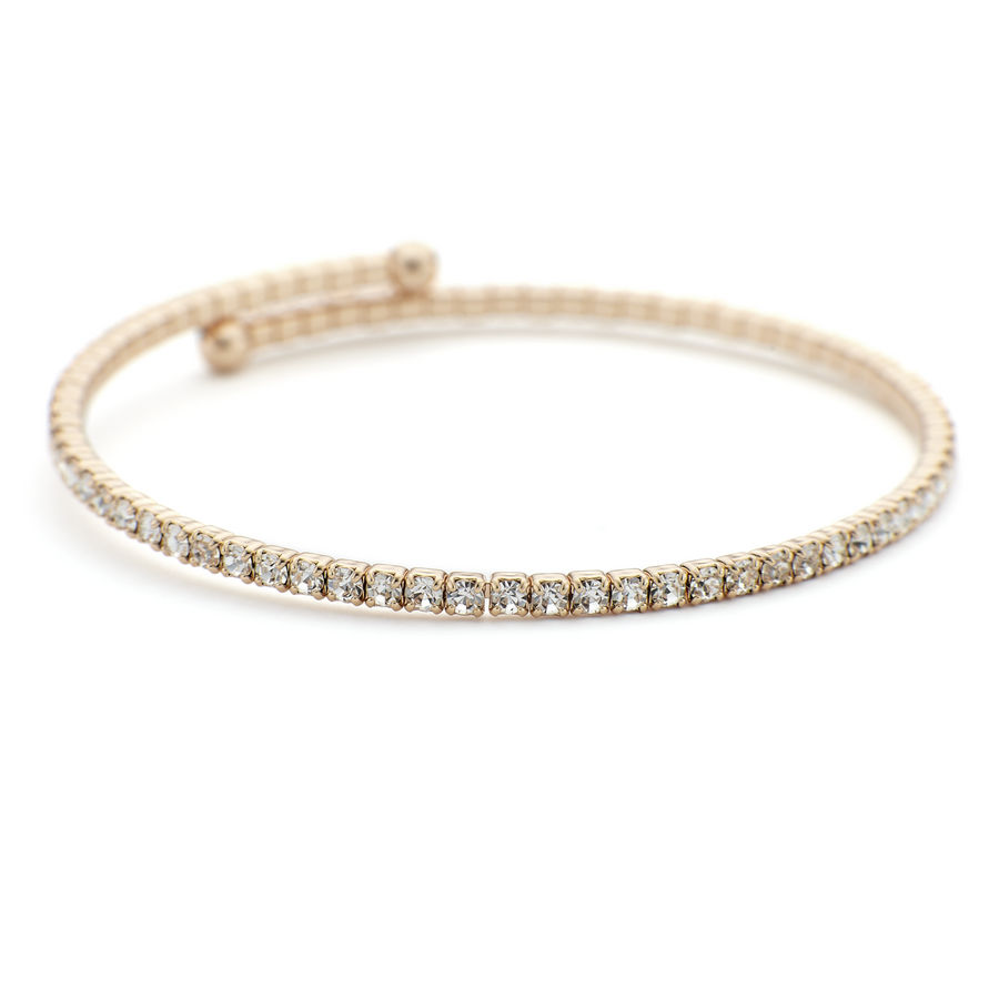 Thin and lightweight brass constellation bangle with rose gold vermeil and crystals | One by One