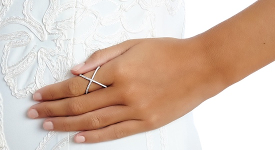 Criss Cross rings and X ring in Sterling silver or rose gold