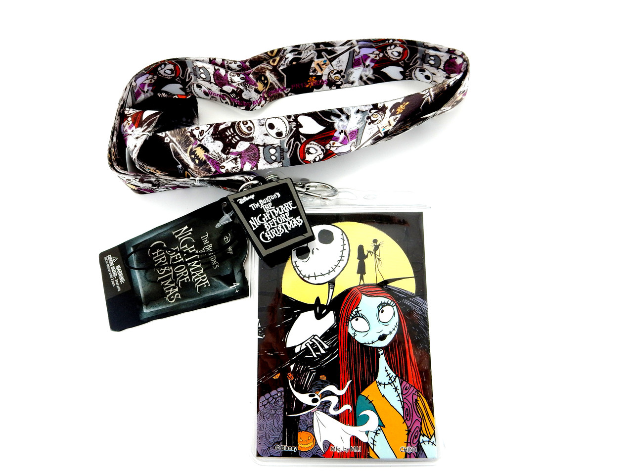 LOT of 3 Disney Jack Skellington Items Lip Collection Choker /& Necklace NEW CUTE