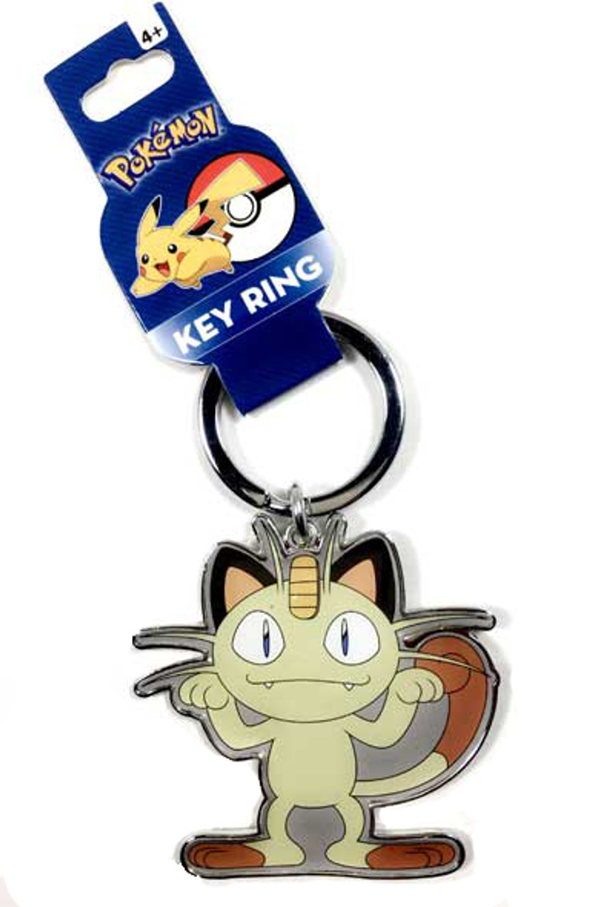 Galarian Meowth Necklace OR Keychain Genuine Pokemon Card Necklace