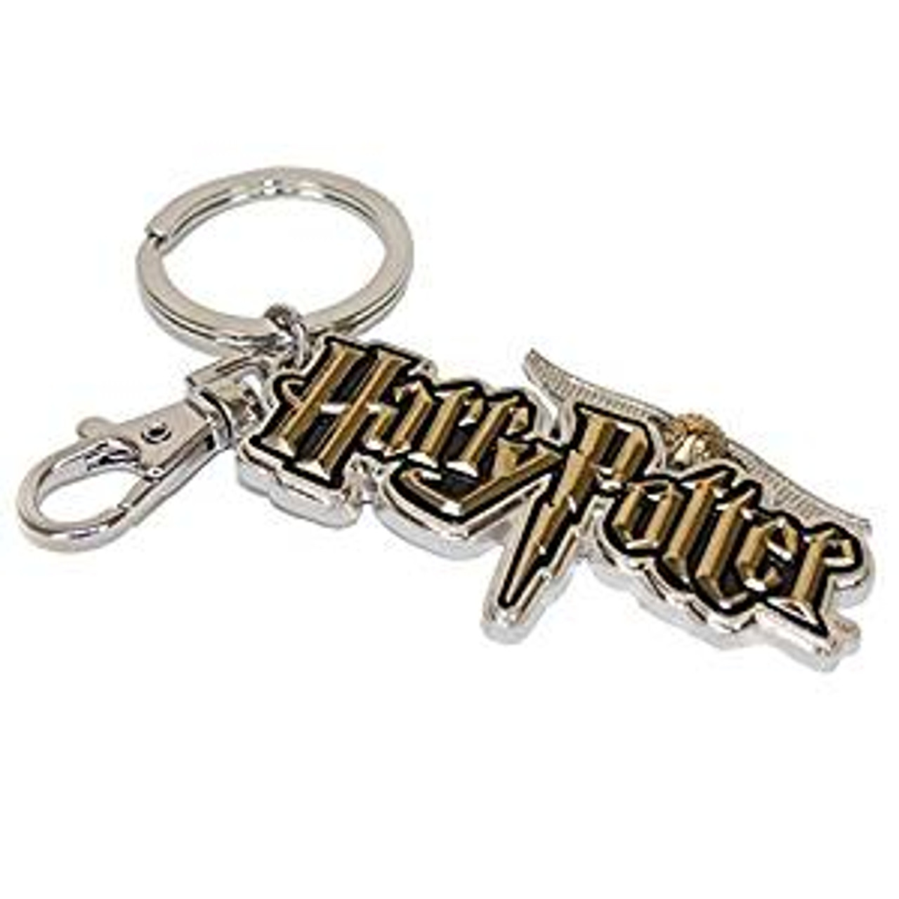 One Size Harry Potter Hogwarts Crest Pewter Key Chain Metallic