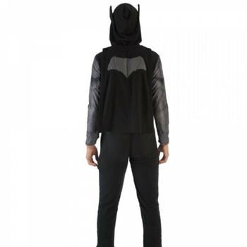 Men's DC Batman Union Suit Pajamas with Attached Cape Medium