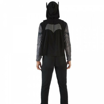 Men's DC Batman Union Suit Pajamas with Attached Cape Large