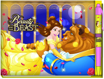 Disney Princess: Beauty and the Beast Deluxe Autograph Book with Pen