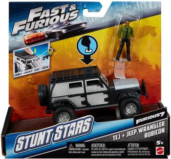 Fast & Furious Stunt Stars Tej + Jeep Wrangler Rubicon Mattel
