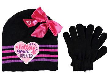 Jojo Siwa: Black Beanie Glove Set