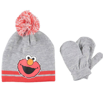 Sesame Street: Elmo Gray Beanie Glove Set