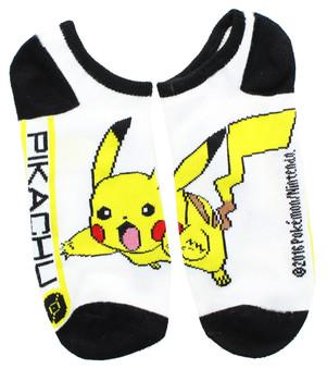 "Pokemon Pikachu ""No-Show"" Anklet Socks,  Size 9-11 (2 Pairs)"