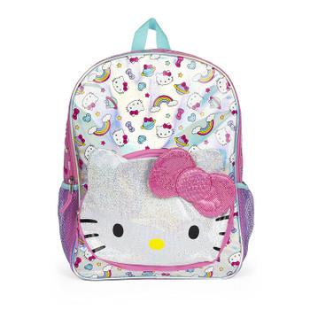 Hello Kitty Rainbow Pattern -  Glitter Backpack